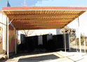 Double Flat Roof Carport