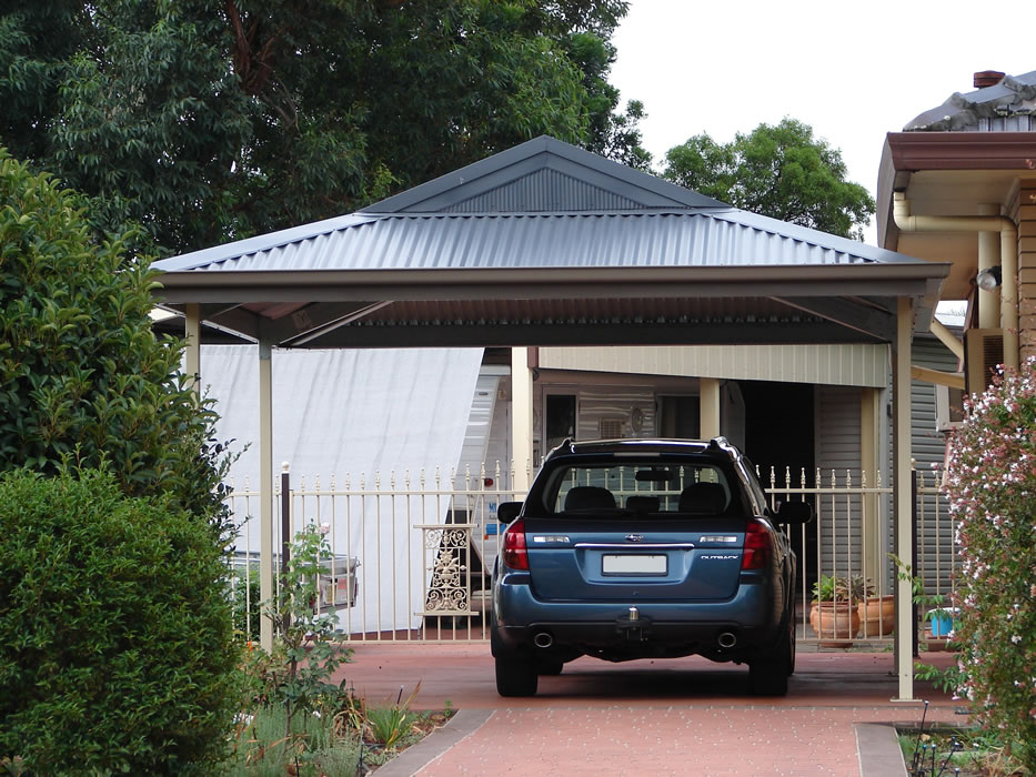 Carport gallery shed master sheds adelaide for Carport garage designs