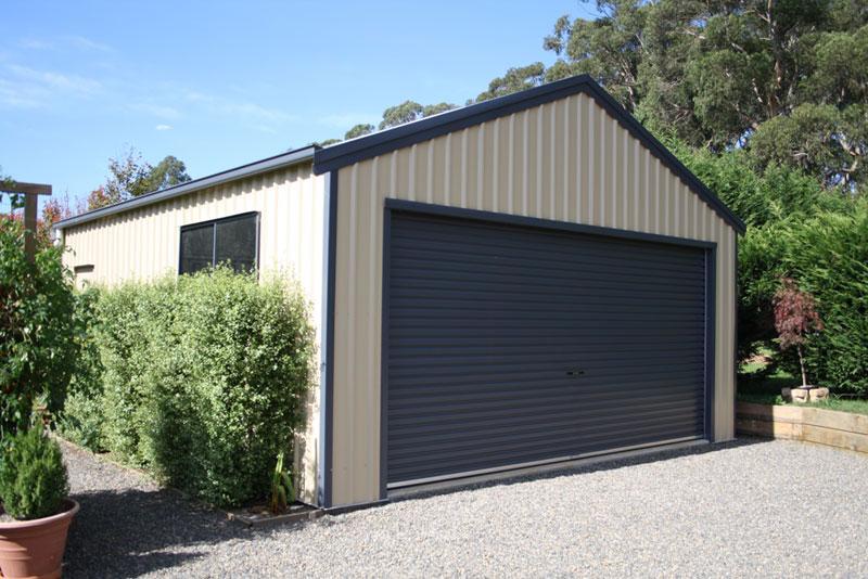 Large Roller door shed. Garage Gallery   Shed Master Sheds