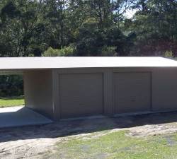 Shed with carport